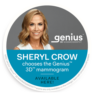 Sheryl Crow chooses the Genius™ 3D™ mammogram